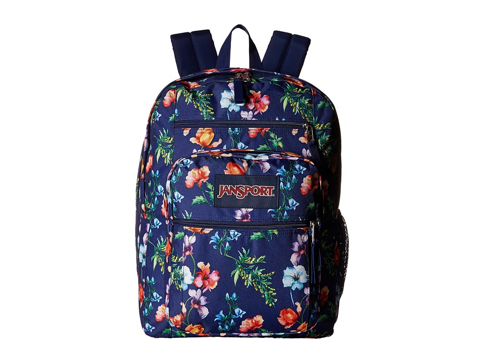 JanSport - Big Student (Multi Navy Mountain Meadow) Backpack Bags