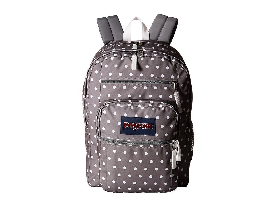 JanSport - Big Student (Shady Grey/White Dots) Backpack Bags