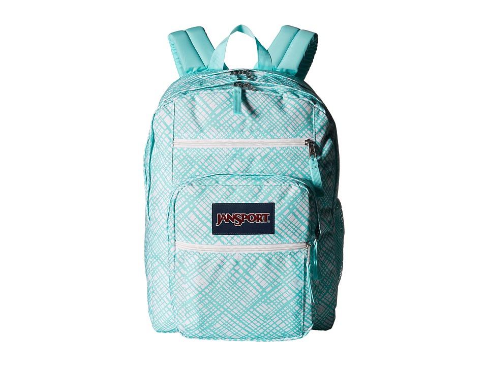 JanSport - Big Student (Aqua Dash Jagged Plaid) Backpack Bags