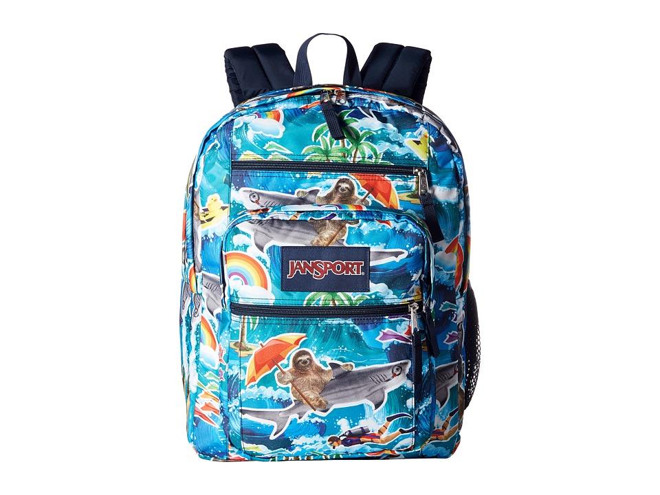 JanSport - Big Student (Multi Wet Sloth) Backpack Bags