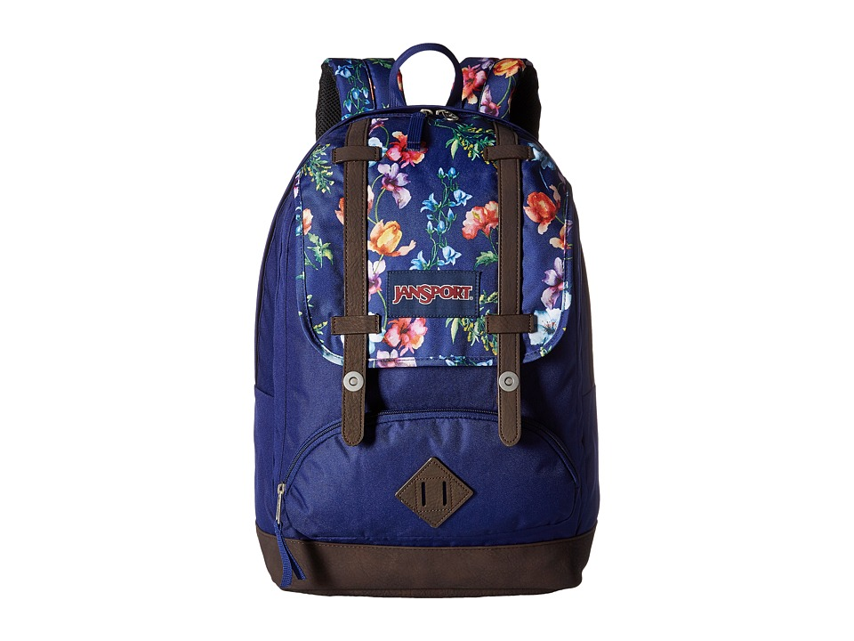 JanSport - Cortlandt Backpack (Multi Navy Mountain Meadow) Backpack Bags