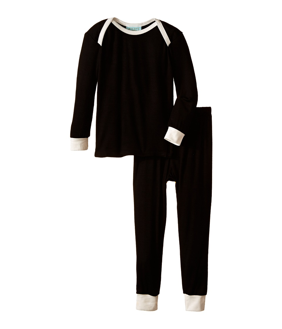 BedHead Kids L/S Tee Pant Infant Black Solid Girls Pajama Sets