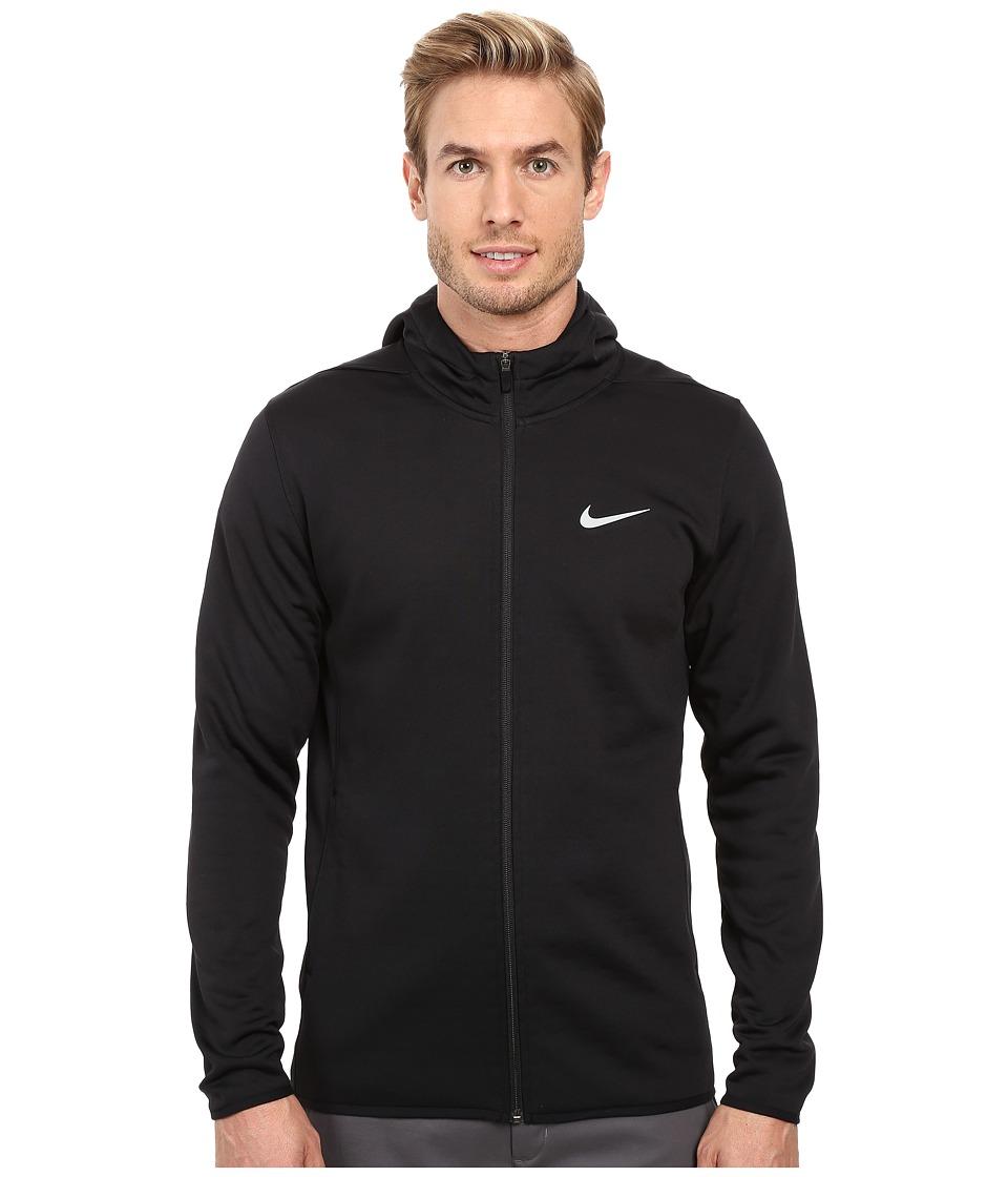 Nike Golf Tech Sphere Full Zip Hoodie (Black/Dark Grey/Flat Silver) Men
