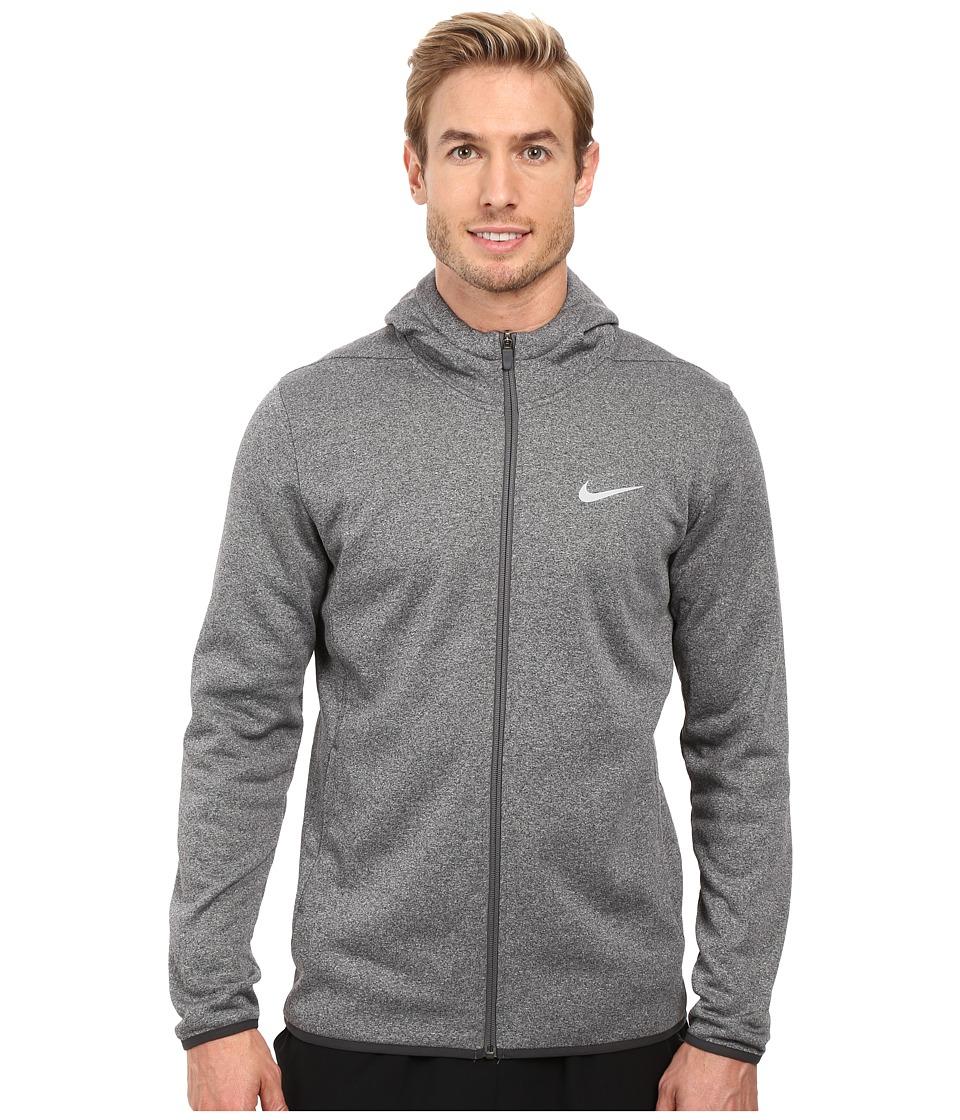 Nike Golf Tech Sphere Full Zip Hoodie (Carbon Heather/Volt/Flat Silver) Men