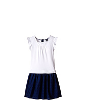 Tommy Hilfiger Kids - Knit Woven Flutter Dress (Little Kids/Big Kids)
