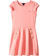 Tommy Hilfiger Kids - Solid Button Jersey Dress (Little Kids/Big Kids)
