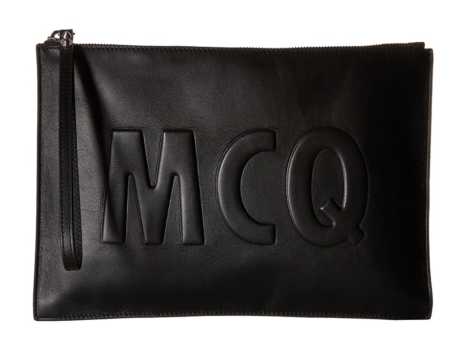 McQ - Smooth Pouch (Black) Travel Pouch