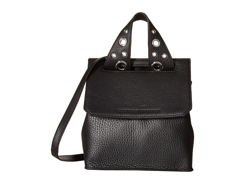 McQ - Grainy Leather Mini Crossbody (Black) Cross Body Handbags
