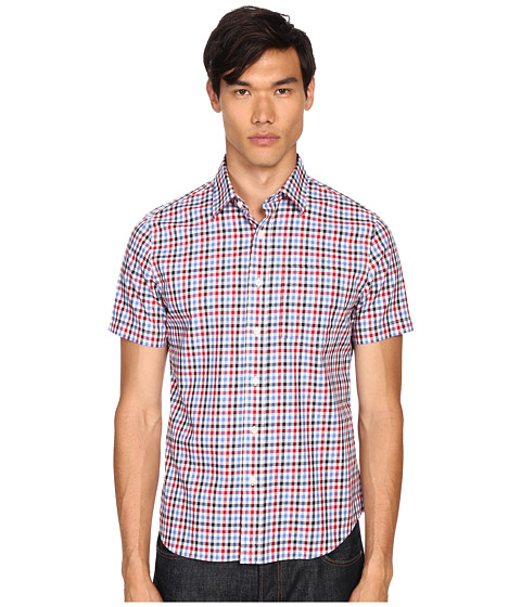Jack Spade Clift Short Sleeve Point Collar Shirt