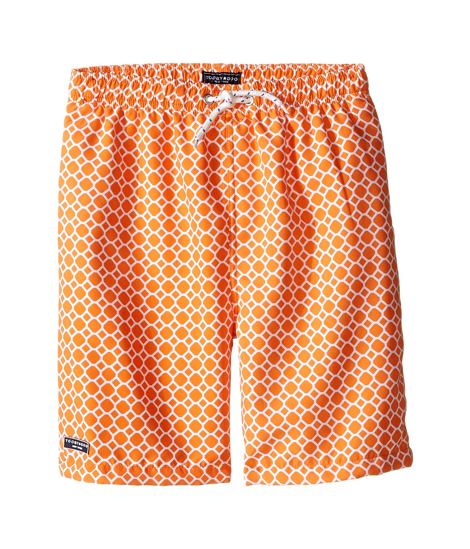 Toobydoo Orange Dot White Lace Drawstring Swim Shorts Infant/Toddler/Little Kids/Big Kids Orange/White Boys Swimwear