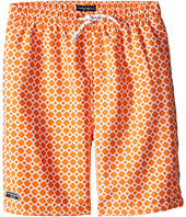 Toobydoo - Orange Dot White Lace Drawstring Swim Shorts (Infant/Toddler/Little Kids/Big Kids)