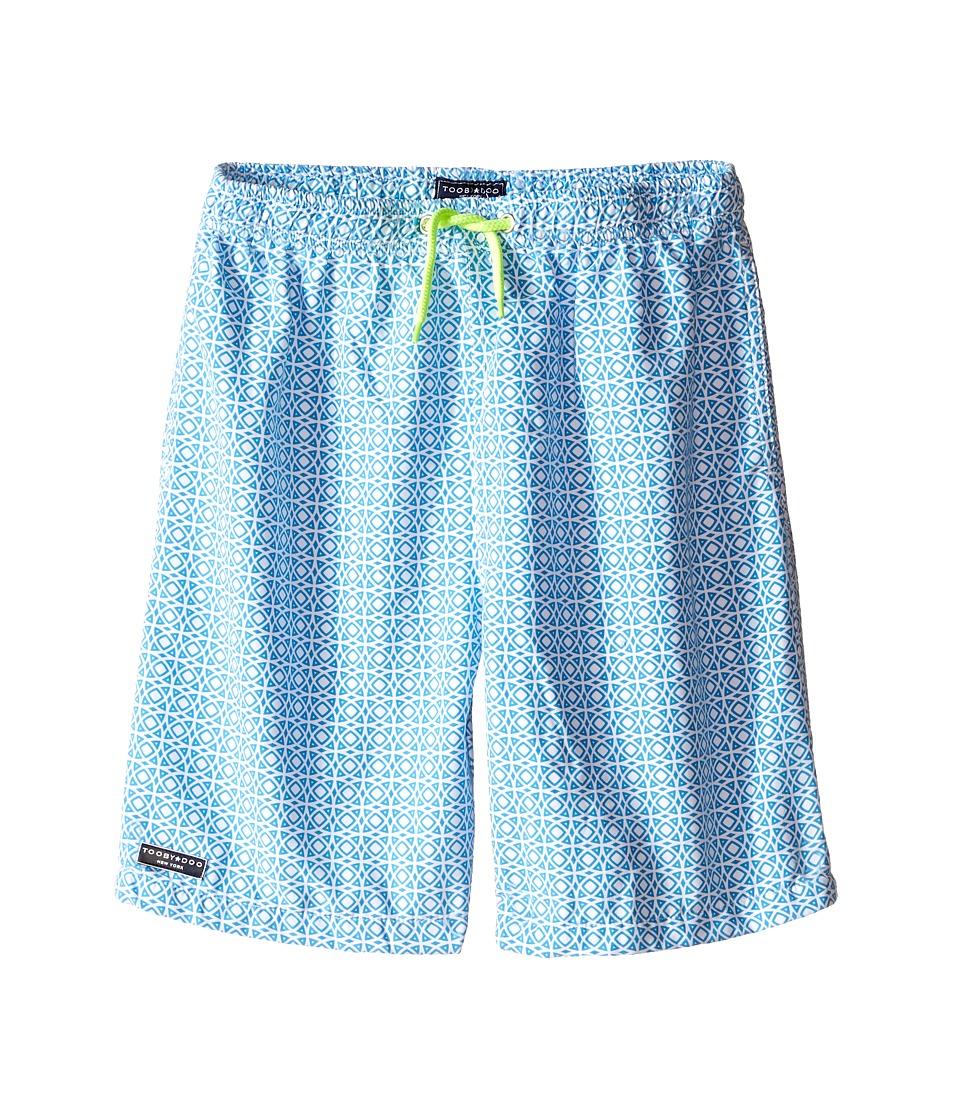 Toobydoo Neon Yellow Lace Drawstring Swim Shorts Infant/Toddler/Little Kids/Big Kids Light Blue/White/Neon Yellow Tie Boys Swimwear