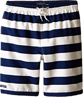 Toobydoo - Stripe Swim Shorts w/ White Lace Drawstring (Infant/Toddler/Little Kids/Big Kids)