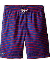 Toobydoo - Red/Royal Blue Swim Shorts w/ White Lace Drawstring (Infant/Toddler/Little Kids/Big Kids)