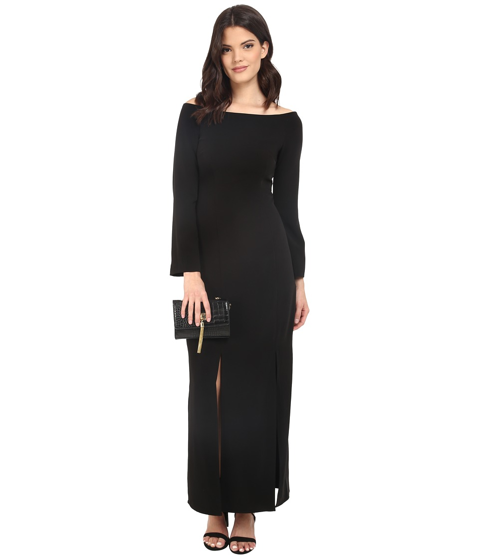 KEEPSAKE THE LABEL Heartlines Long Sleeve Maxi Dress Black Womens Dress