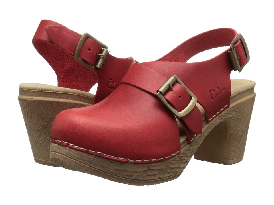 Calou Stockholm Astrid Red Womens Shoes