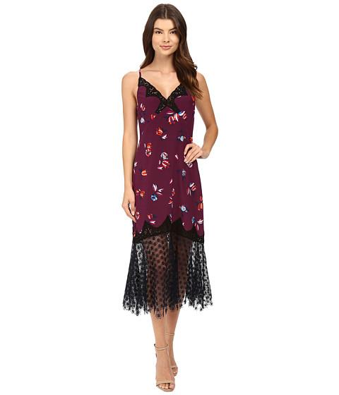 Rebecca Taylor Bellflower Print Slip Dress