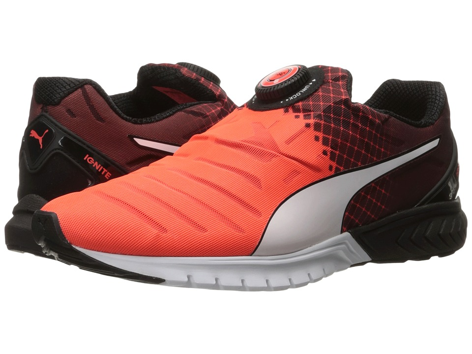 PUMA - Ignite Dual Disc (Red Blast/Puma Black/Puma White) Men