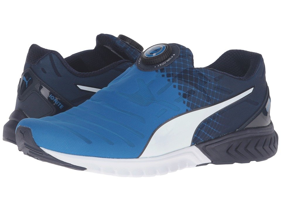PUMA - Ignite Dual Disc (Electric Blue Lemonade/Peacoat/Puma White) Men