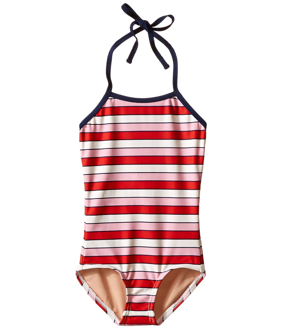 Toobydoo Multi Pink One Piece Swimsuit Infant/Toddler/Little Kids/Big Kids Pink/Red/White/Navy Girls Swimsuits One Piece