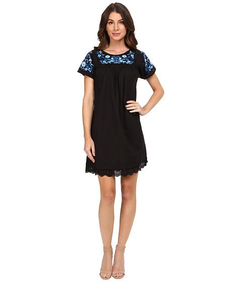 Rebecca Taylor Folk Garden Embroidery Short Sleeve Dress
