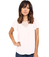 Rebecca Taylor - Stained Glass Lace Short Sleeve Top