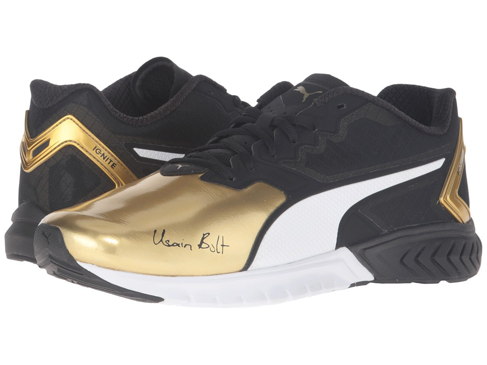 PUMA - Ignite Dual Bolt (Puma Black/Gold) Men
