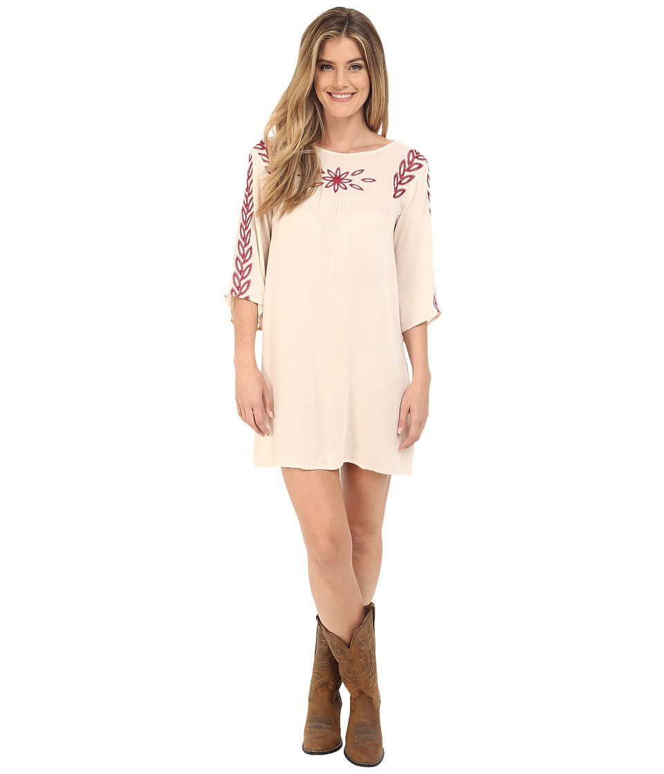 Rock and Roll Cowgirl Long Sleeve Dress D4 6727 Natural Womens Dress