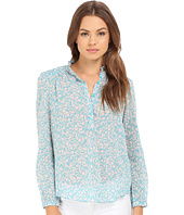 Rebecca Taylor - Provence Block Print Long Sleeve Top