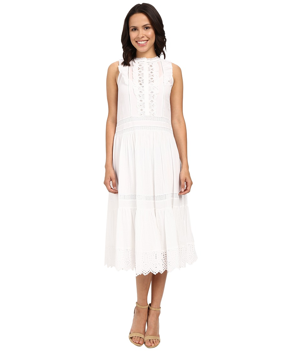 Rebecca Taylor Victorian Voile Sleeveless Voile Lace Dress Sea Salt Womens Dress
