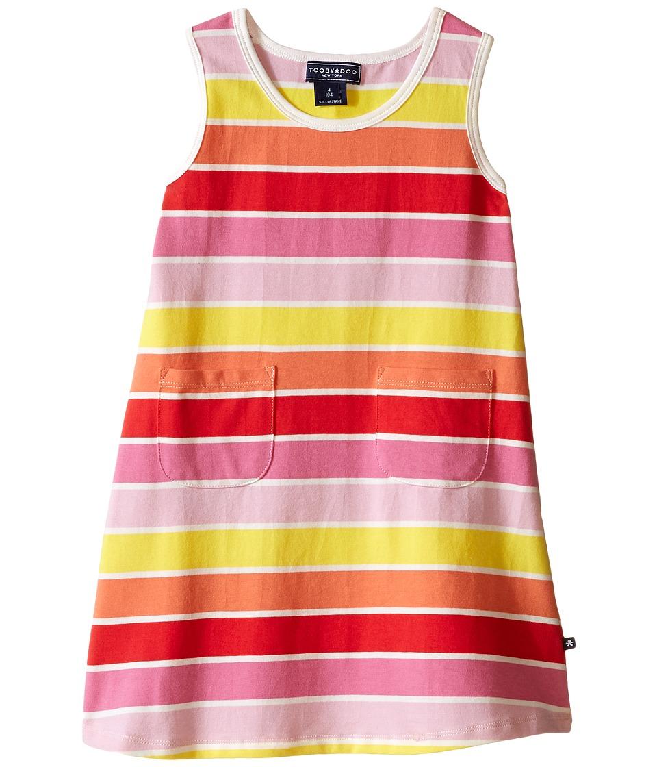 Toobydoo Tank Dress Multi Stripe Infant/Toddler Yellow/Orange/Red/Pink Girls Dress