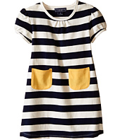 Toobydoo - Short Sleeve Pocket Dress w/ Yellow Pocket (Infant/Toddler)