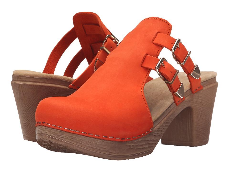 Calou Stockholm Katty Orange Womens Shoes