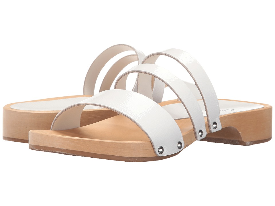 Calou Stockholm Lillian White Patent Womens Shoes
