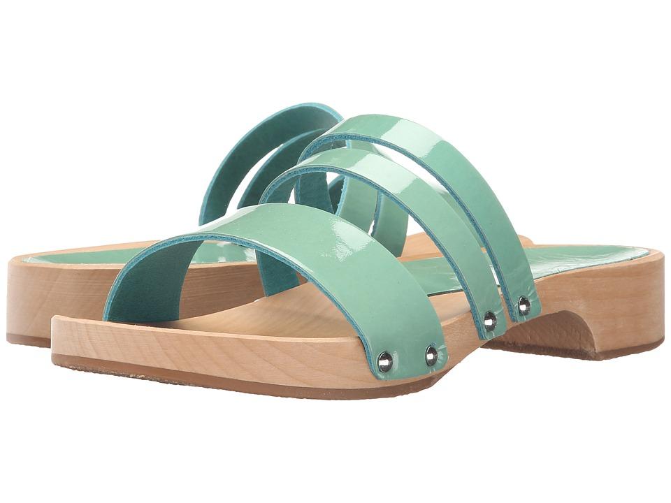 Calou Stockholm Lillian Aqua Patent Womens Shoes