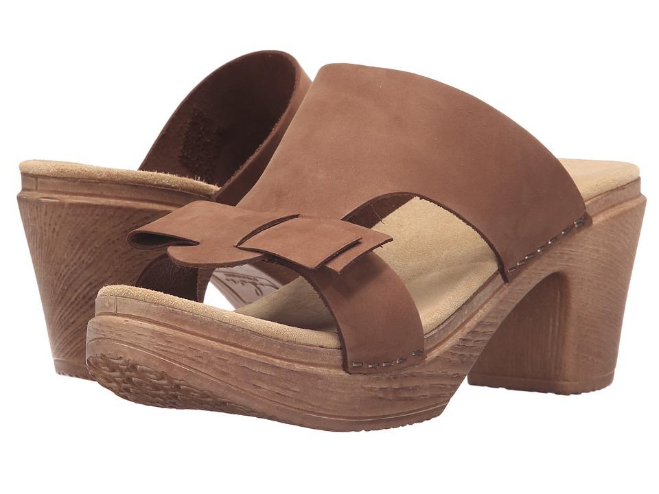 Calou Stockholm Linn Brown Nubuck Womens Shoes
