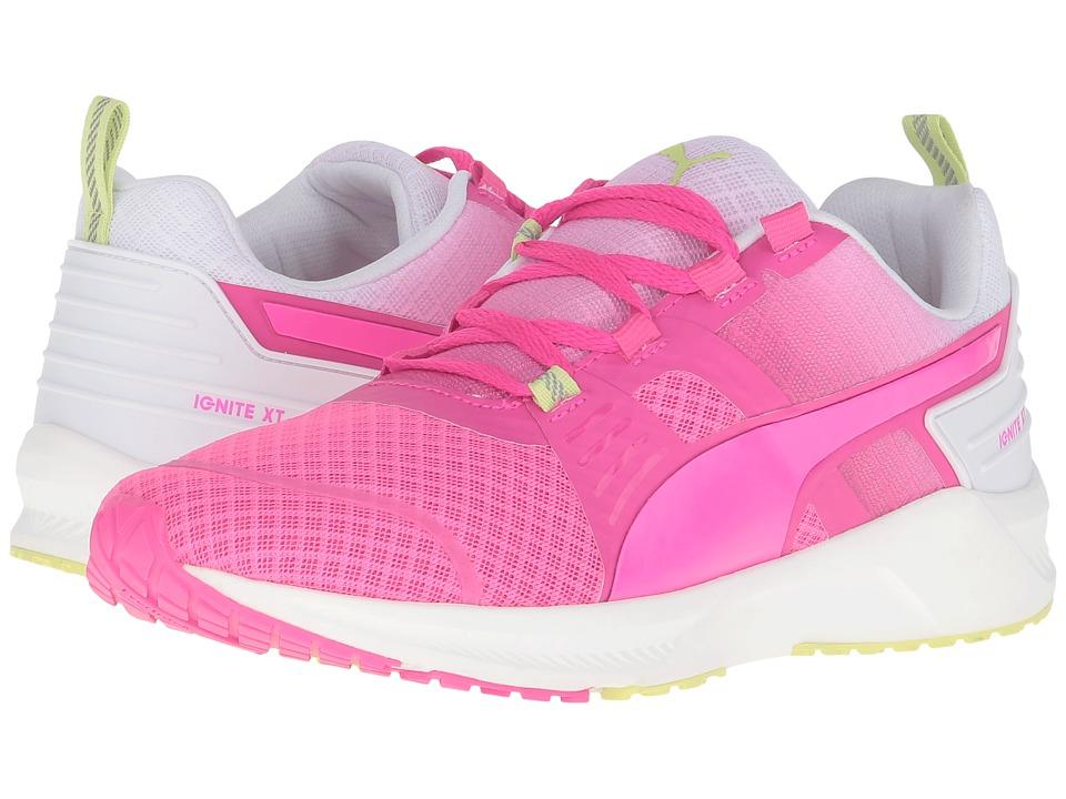 PUMA Ignite XT V2 (Pink Glow/Puma White/Sharp Green) Women