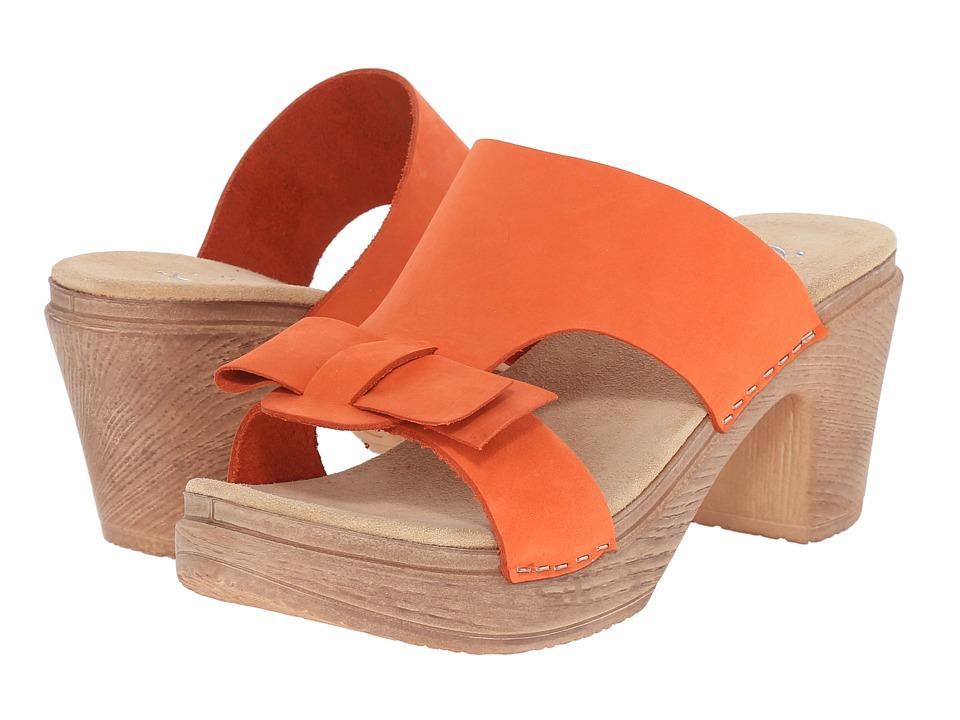 Calou Stockholm Linn Orange Womens Shoes