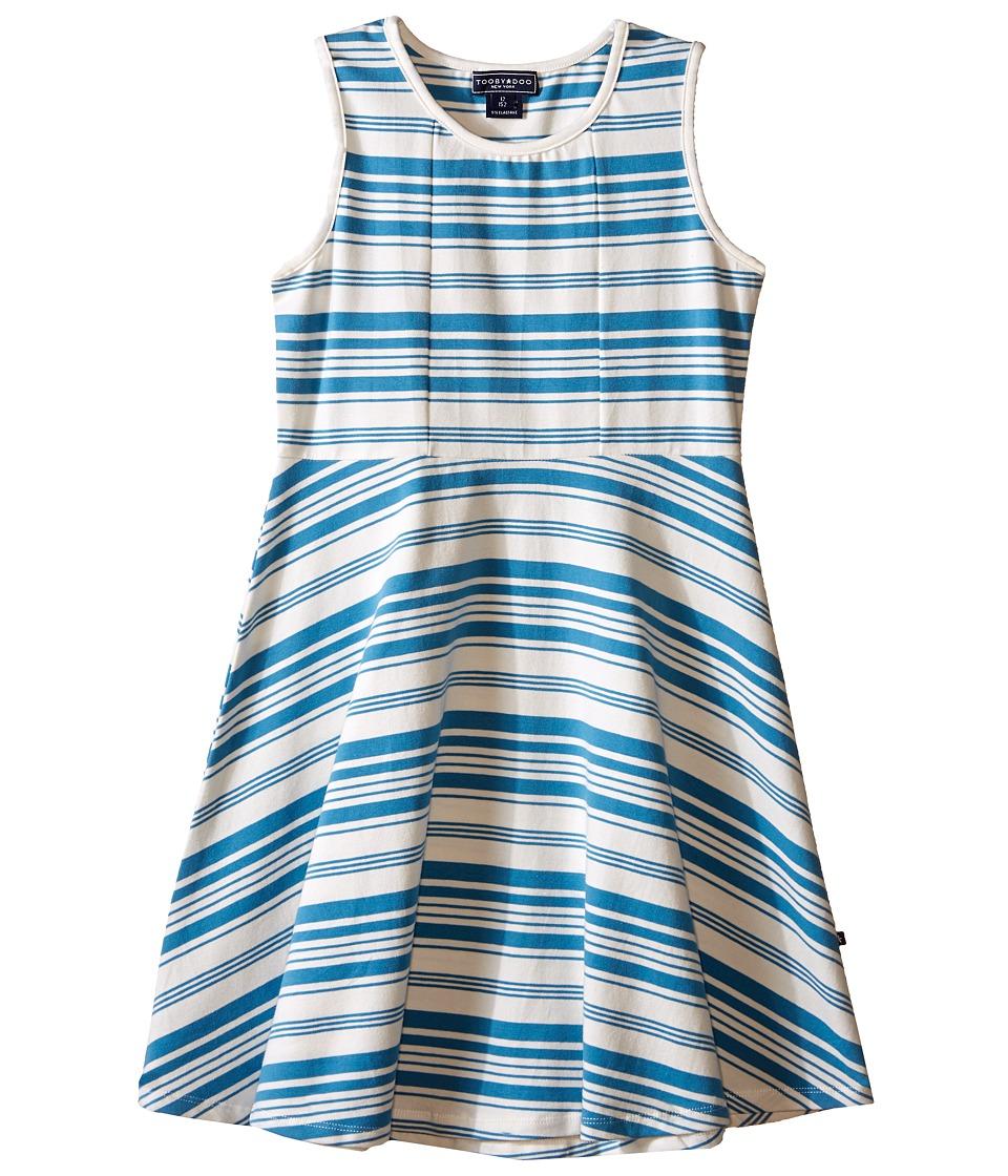 Toobydoo Tank Skater Dress Toddler/Little Kids/Big Kids Blue/White Girls Dress
