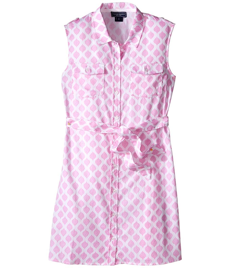 Toobydoo Tank Shirtdress Toddler/Little Kids/Big Kids Pink/White Girls Dress