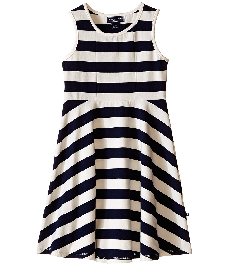 Toobydoo Tank Skater Dress Toddler/Little Kids/Big Kids Navy/White Girls Dress