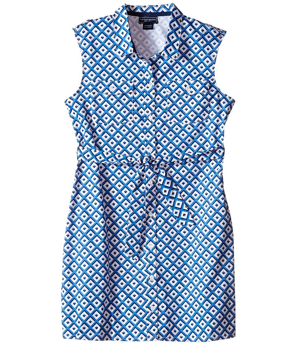 Toobydoo Tank Shirtdress Toddler/Little Kids/Big Kids Blue/White Girls Dress