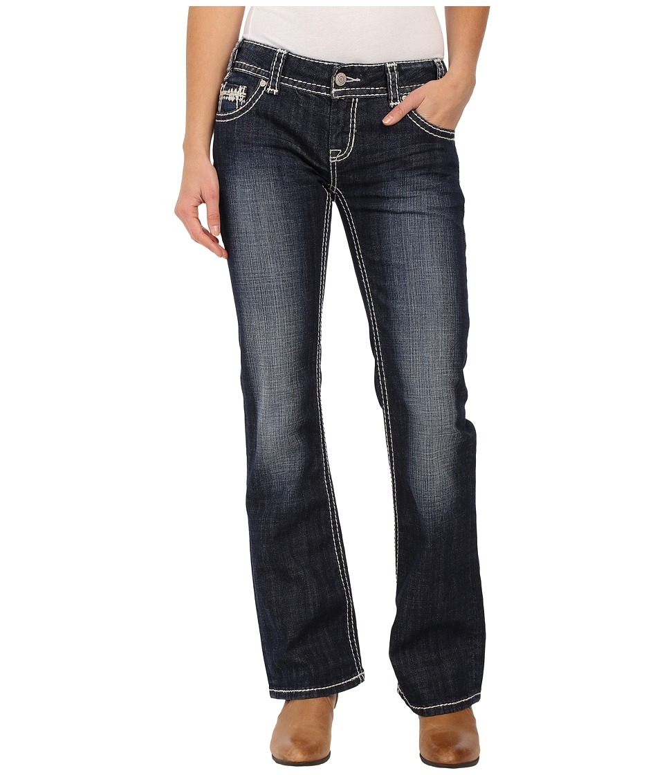 Rock and Roll Cowgirl Low Rise Bootcut in Dark Vintage W0 6418 Dark Vintage Womens Jeans