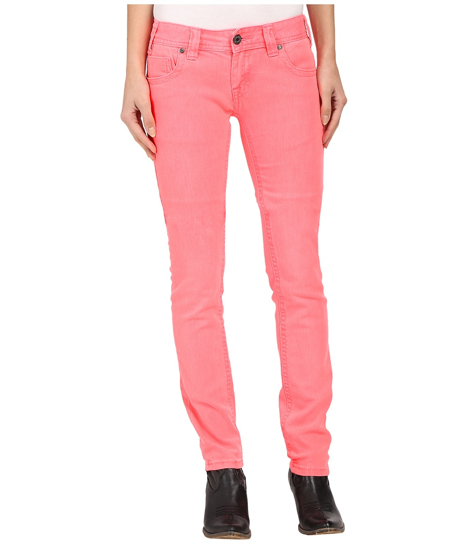 Rock and Roll Cowgirl Low Rise Skinny in Hot Pink W0S6446 Hot Pink Womens Jeans