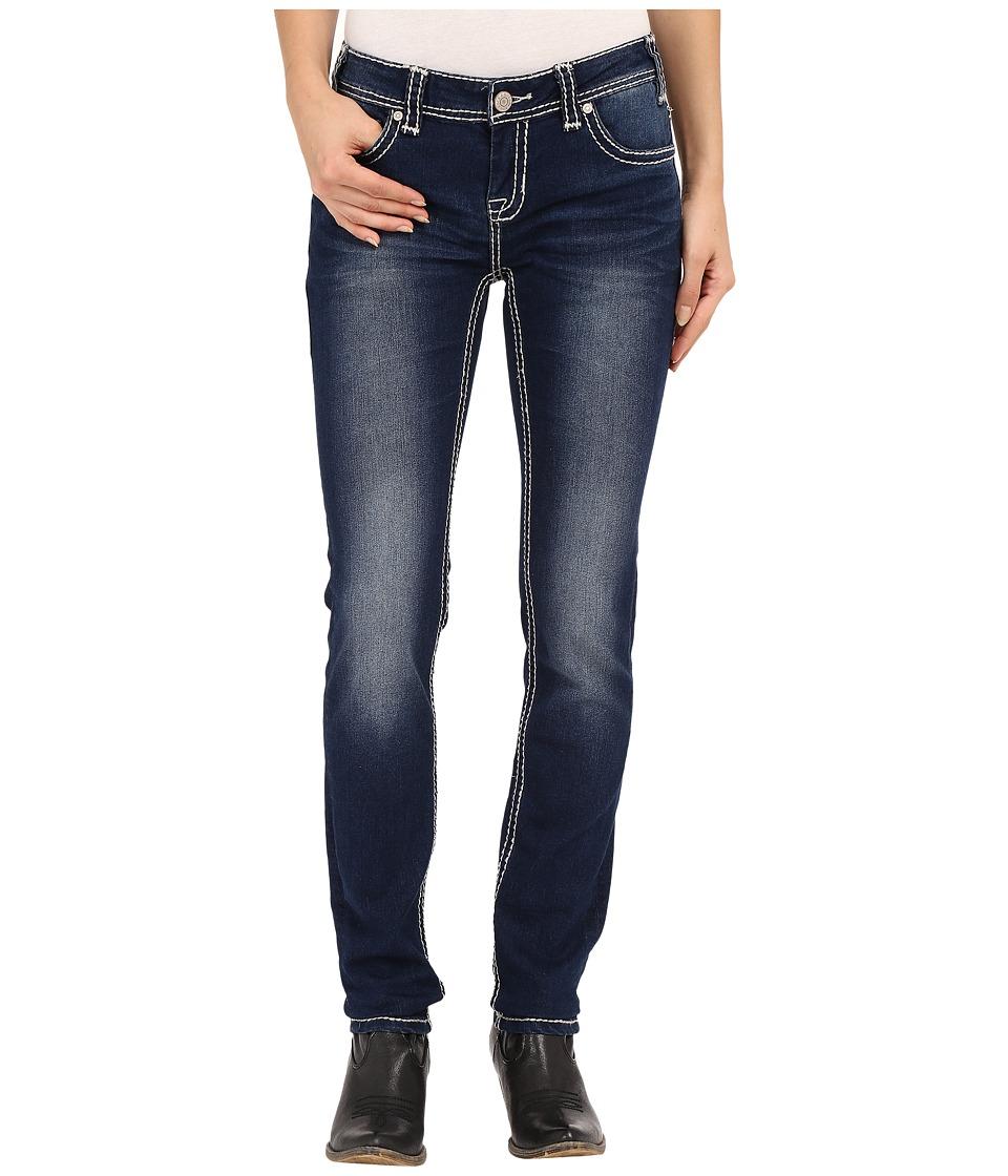 Rock and Roll Cowgirl Low Rise Skinny in Dark Vintage W0S6456 Dark Vintage Womens Jeans