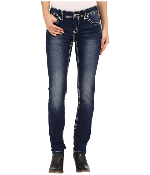 Rock and Roll Cowgirl Low Rise Skinny in Dark Vintage W0S6456