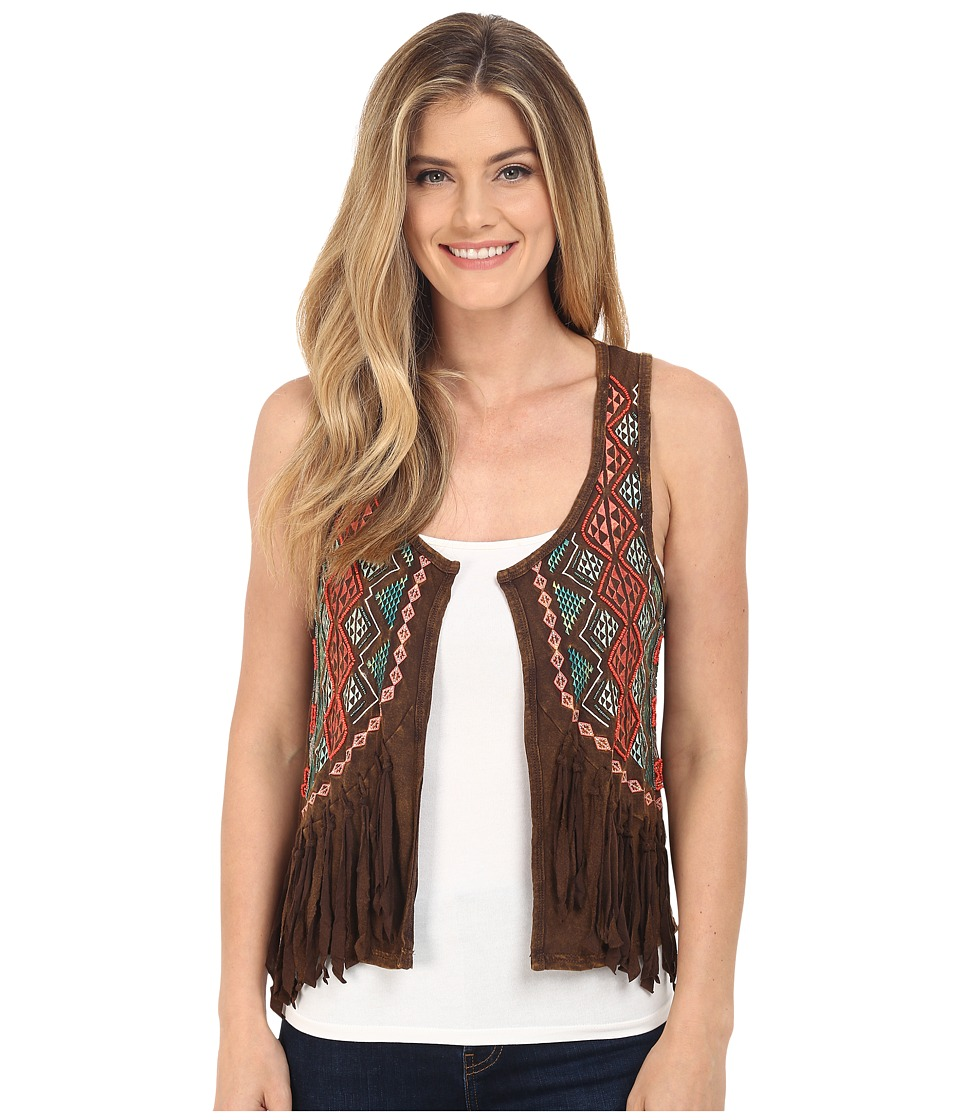 Rock and Roll Cowgirl Vest 49V6060 Chocolate Womens Vest