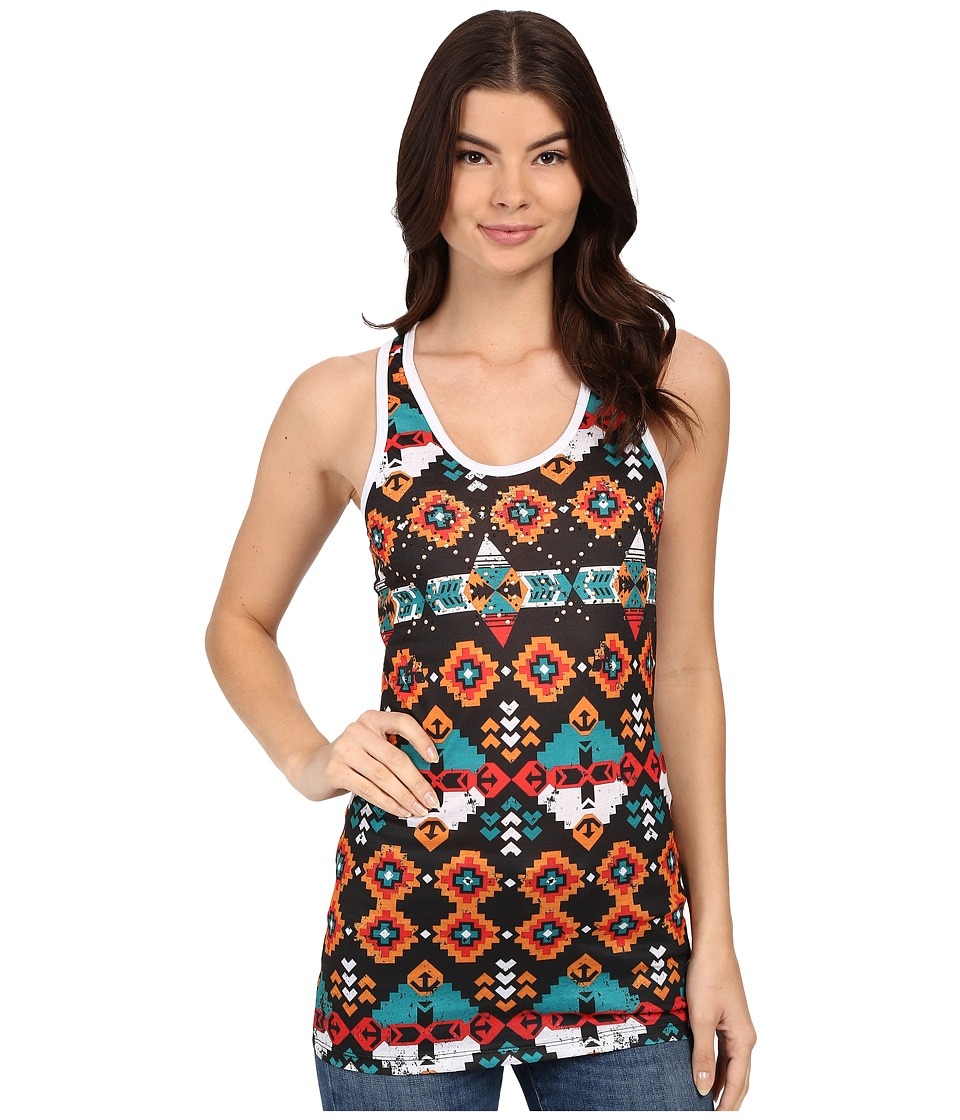 Rock and Roll Cowgirl Knit Tank Top 49 6237 Black Womens Sleeveless