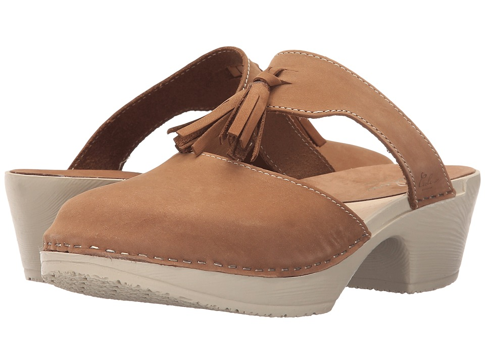 Calou Stockholm Penny Strap Brown Nubuck Womens Shoes