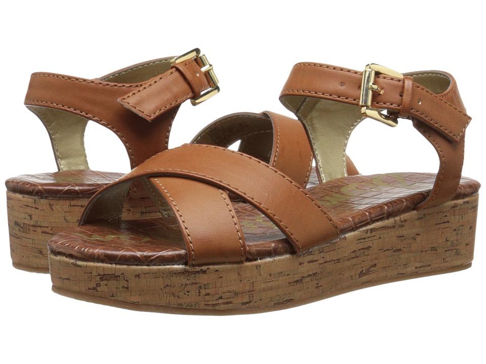 Sam Edelman Kids Lana Crisscross Little Kid/Big Kid Saddle PU Girls Shoes